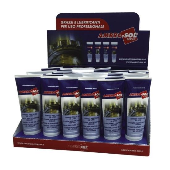 Expositor de mostrador para grasas y lubricantes